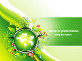 Nature & Environment: Blooming Earth Concept PowerPoint Template #07758