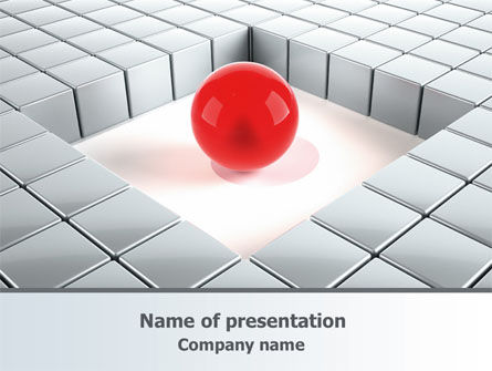 Surrounded PowerPoint Template, 07759, Business Concepts — PoweredTemplate.com