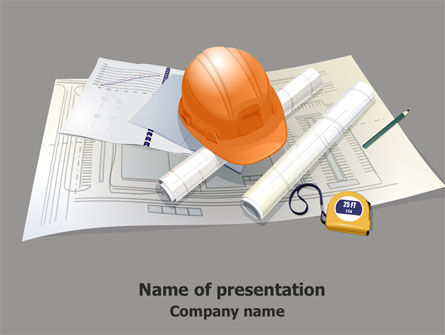 New House Planning PowerPoint Template, 07761, Construction — PoweredTemplate.com
