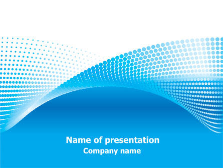 Folded Ribbon Abstract PowerPoint Template, 07762, Abstract/Textures — PoweredTemplate.com