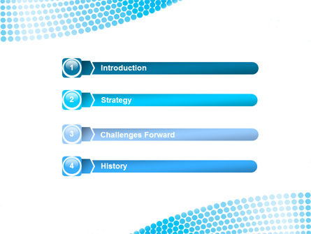 Folded Ribbon Abstract PowerPoint Template Slide 3