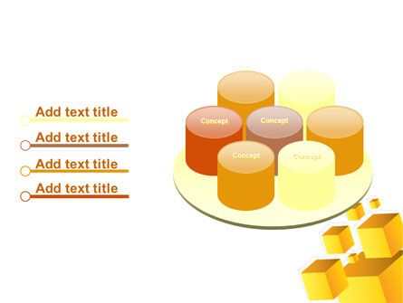 Yellow Cubes PowerPoint Template Slide 12