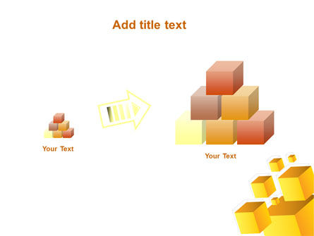 Yellow Cubes PowerPoint Template Slide 13