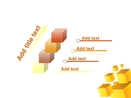 Yellow Cubes PowerPoint Template Slide 14
