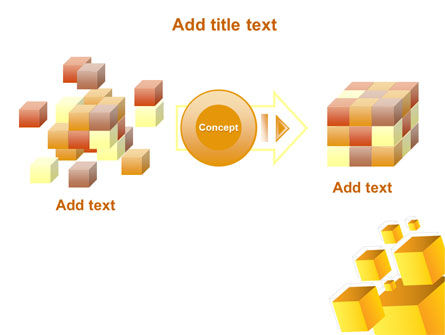 Yellow Cubes PowerPoint Template Slide 17