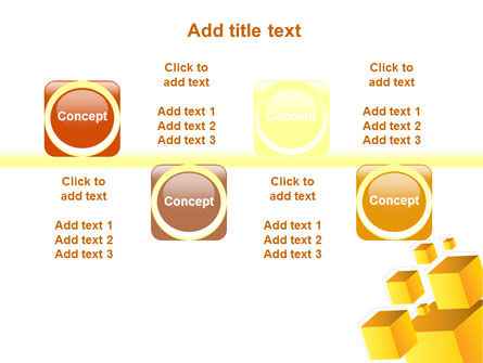 Yellow Cubes PowerPoint Template Slide 18