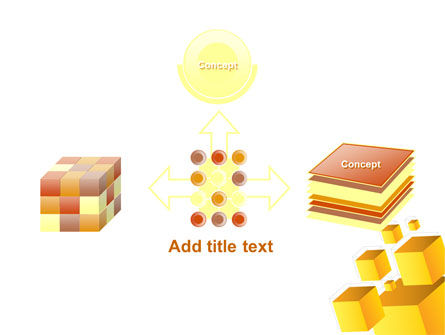 Yellow Cubes PowerPoint Template Slide 19