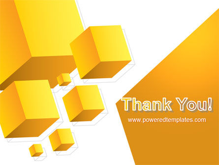 Yellow Cubes PowerPoint Template Slide 20