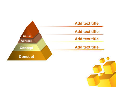 Yellow Cubes PowerPoint Template Slide 4