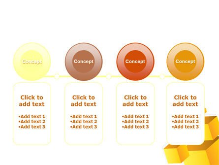 Yellow Cubes PowerPoint Template Slide 5