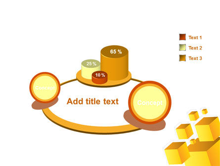 Yellow Cubes PowerPoint Template Slide 6