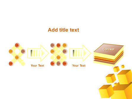 Yellow Cubes PowerPoint Template Slide 9