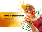 Education & Training: Drawing on Glass PowerPoint Template #07765