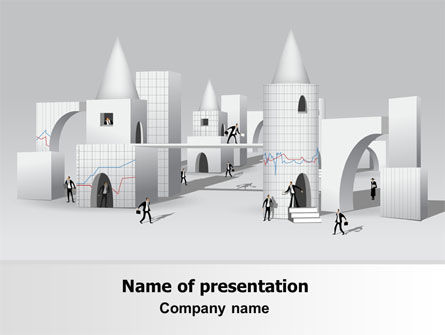 Consulting: Business City Abstract Free PowerPoint Template #07767