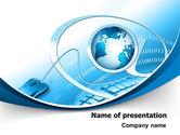 Computers: Plantilla de PowerPoint - concepto de internet #07768