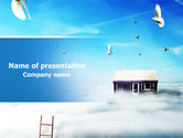 Religious/Spiritual: Seventh Heaven PowerPoint Template #07769