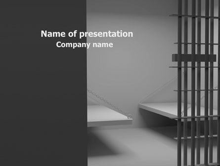 Legal: Prison Cell PowerPoint Template #07771