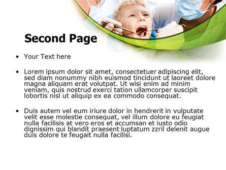 Children's Stomatology PowerPoint Template, Slide 2, 07773, Medical — PoweredTemplate.com
