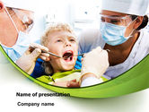 Medical: Children's Stomatology PowerPoint Template #07773