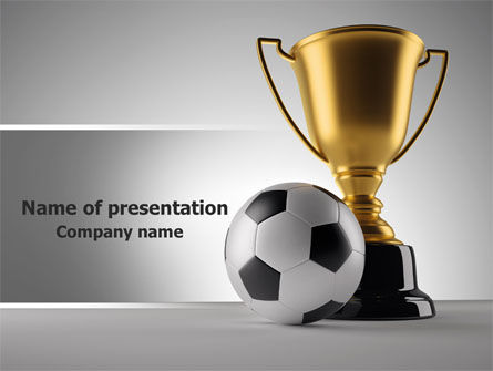 Sports: Football Cup PowerPoint Template #07774