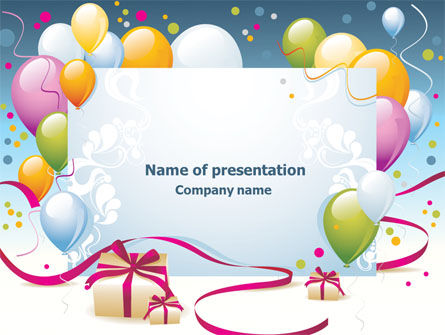 Greeting Card PowerPoint Template, 07775, Holiday/Special Occasion — PoweredTemplate.com