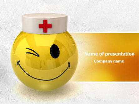 Doctor Emoticon PowerPoint Template, 07777, Medical — PoweredTemplate.com