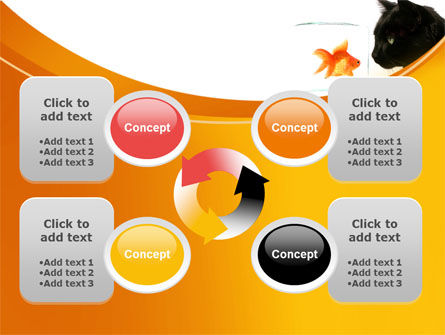 Fish and Cat PowerPoint Template Slide 9