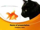 Business Concepts: Fish and Cat PowerPoint Template #07779