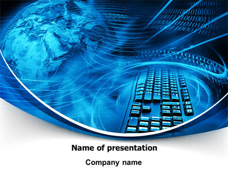 Keyboard Theme PowerPoint Template, 07780, Technology and Science — PoweredTemplate.com