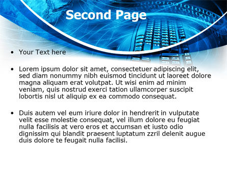 Keyboard Theme PowerPoint Template, Slide 2, 07780, Technology and Science — PoweredTemplate.com