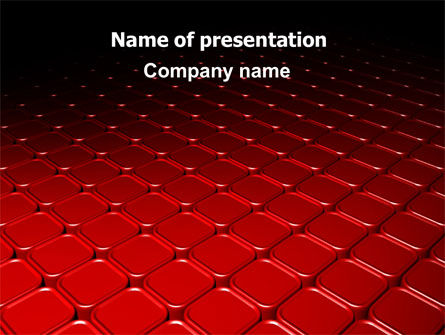 Red Fragmented Surface PowerPoint Template, 07781, Abstract/Textures — PoweredTemplate.com