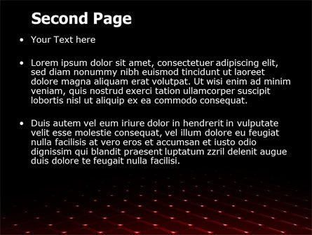 Red Fragmented Surface PowerPoint Template Slide 2