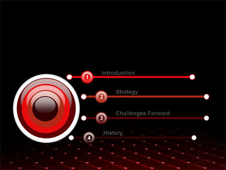 Red Fragmented Surface PowerPoint Template Slide 3