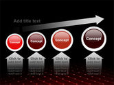 Red Fragmented Surface PowerPoint Template#13