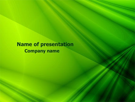Green Satin PowerPoint Template, 07783, Abstract/Textures — PoweredTemplate.com