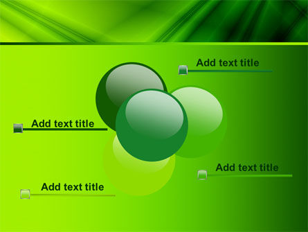 Green Satin PowerPoint Template Slide 10
