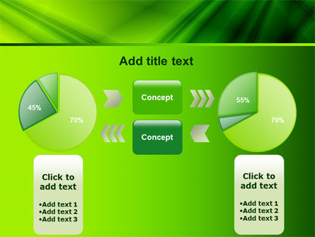 Green Satin PowerPoint Template Slide 11