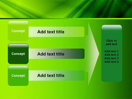 Green Satin PowerPoint Template Slide 12