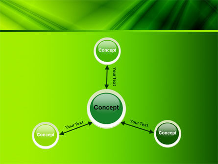 Green Satin PowerPoint Template Slide 14