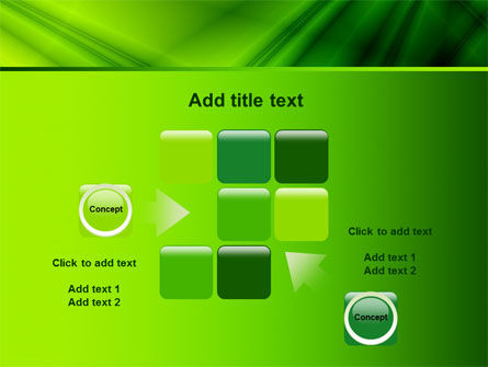 Green Satin PowerPoint Template Slide 16
