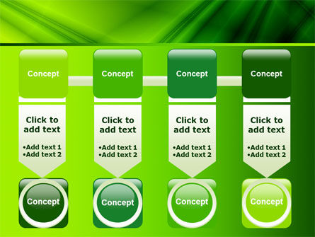 Green Satin PowerPoint Template Slide 18