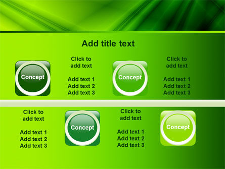 Green Satin PowerPoint Template Slide 19