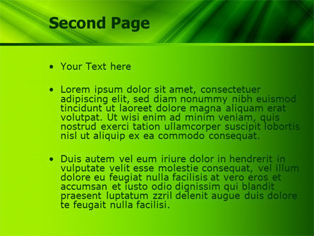 Green Satin PowerPoint Template, Slide 2, 07783, Abstract/Textures — PoweredTemplate.com