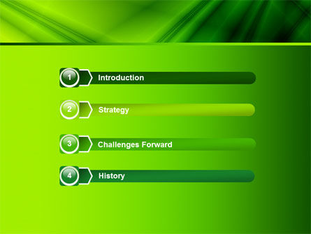 Green Satin PowerPoint Template Slide 3