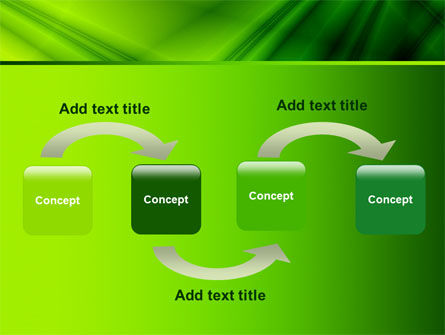 Green Satin PowerPoint Template, Slide 4, 07783, Abstract/Textures — PoweredTemplate.com