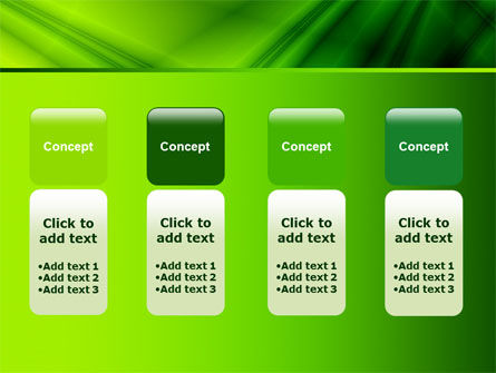 Green Satin PowerPoint Template Slide 5