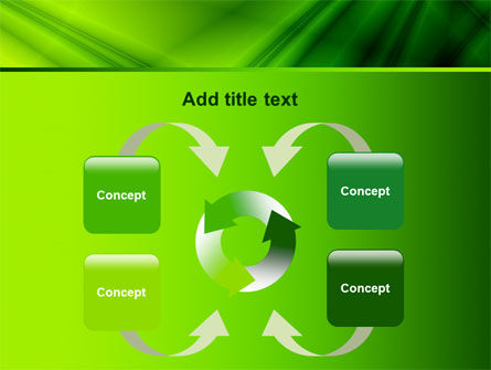 Green Satin PowerPoint Template Slide 6