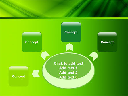 Green Satin PowerPoint Template Slide 7