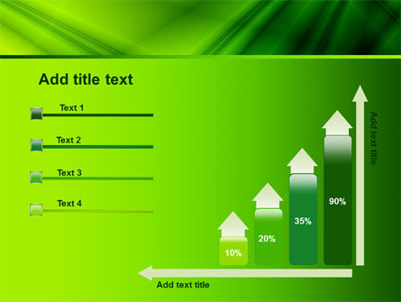 Green Satin PowerPoint Template Slide 8