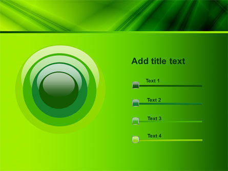 Green Satin PowerPoint Template Slide 9